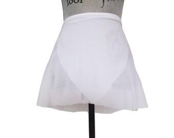 White Ballet Wrap Skirt  - Short