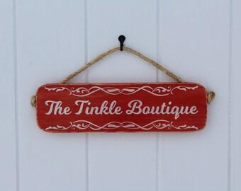 Bathroom Sign-The Tinkle Boutique Sign-Wooden Bathroom Sign-Home and Living-Bathroom Wall Decor-Bathroom Decor-Farmhouse Decor-Bath