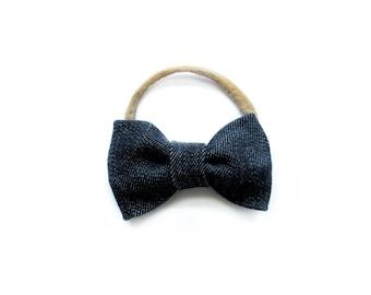 Black Denim Tuxedo Bow