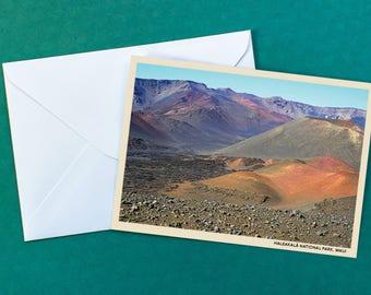 Haleakala Crater Greeting Card | Maui, Hawaii | Blank