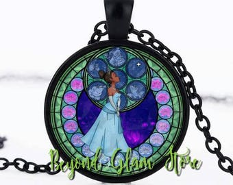 Tiana Inspired Glass Necklace
