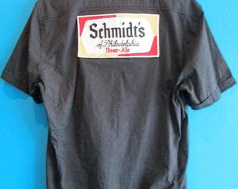 Schmidt's Men's Button Down Beer Shirt XL