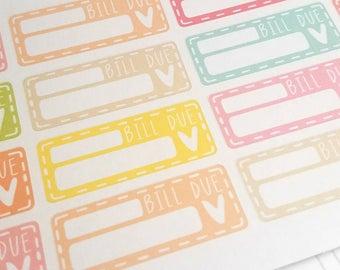 SALE! Bill due planner stickers - Erin Condren - Happy Planner - pay bills - Christmas Gift