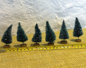 vintage 6 miniature trees forest for decoration