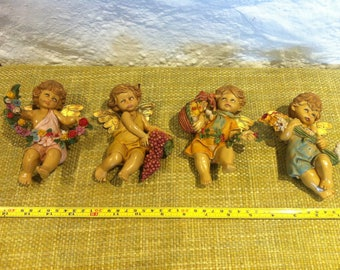 Vintage 4 seasons angel putti putto ITALY plastic