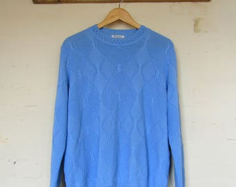 Baby blue 80/90s jumper size 14/16