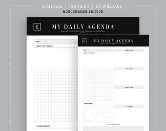 My Daily Agenda Printable  | Daily To Do List | Daily Planner | A5