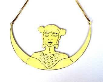 KUMIKO fine gold bib necklace