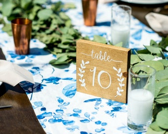 Set of 10 Wedding Table Number Signs, Table Number Signs, Wedding Decor