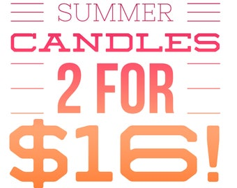 Summer Candle Sale! / Soy Candles / Sale