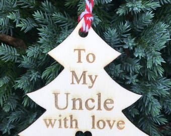 Uncle Gift Tag, Family Gift Tag, Christmas 2017, Rustic Christmas Tag, Traditional Christmas Tag, Christmas Wrapping, Festive Gift Tag