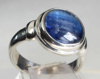 Kyanite Ring Sterling Silver Gift for Her Mineral Lover