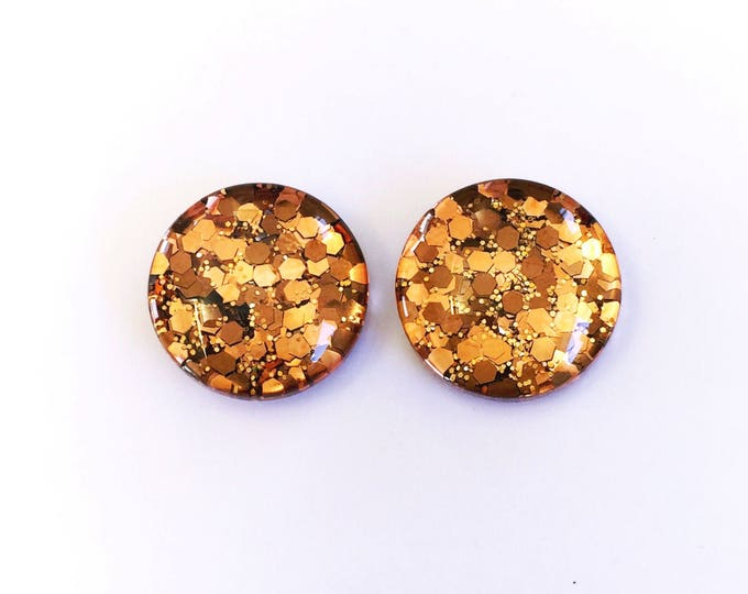 The 'Brown Sugar' Glass Earring Studs