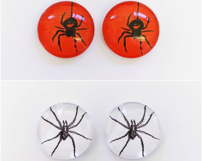 The 'Spider' Glass Earring Studs