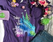 Disney Tangled Tee, Rapunzel and Pascal T-Shirt, Disney Castle Shirt,  Disney Vacation Tee, It's a Very Big Day Pascal,