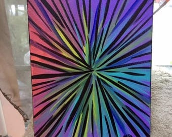 Time Warp Blacked Out / Original Art / Wall Art / Acrylic Painting / 8x10