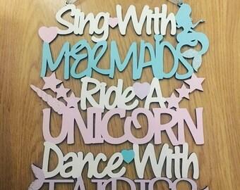 Mermaids, unicorns and Fairies