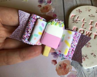 Ice Cream Sprinkles Bow
