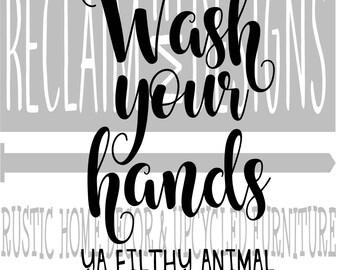 Wash Your Hands Sign Etsy