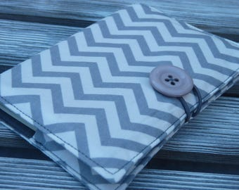 Chevron Passport Cover, Holds 2 Passports, Passport Holder, Passport wallet, Travel organizer, Passport Case, Travel gift, Gray Chevron