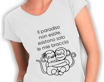 T shirt V neck emma paradise does not exist