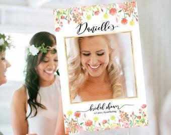 Wedding photo props, Bridal Shower Photo Prop, bridal shower photo booth frame, Bridal Shower sign, Bridal Shower decoration, photo props