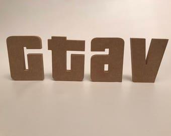 Mdf letters in GTA stryle
