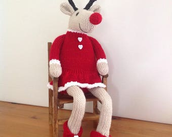 IVY - Hand knitted reindeer