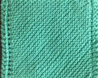 Sea Foam Knitted Washcloth