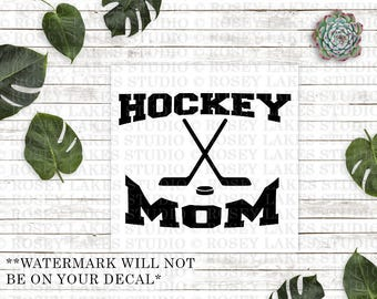 Hockey Mom, Hockey Mom Decals, Decal, Decals, Sports, Sports Mom Decals, Sports Mom, Hockey, Ice Hockey, Rink, Ice, Gifts, Hockey Gifts, Mom