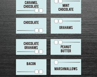 Smores, Smores bar,smores dessert bars, Smore party,s'mores bars recipe,recipe for s mores, Smores printable, SMores menu, smores bar