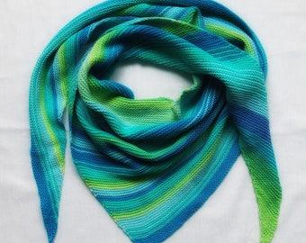 baktus, Norwegian shawl, scarf, summer baktus, cotton baktus, a summer scarf, triangular scarf, shawl, mini shawl