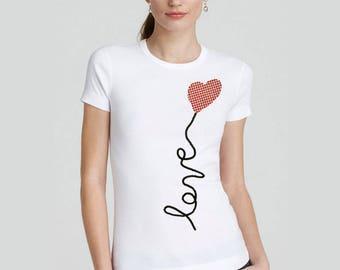 Heart T Shirt, Heart Shirt, Heart Tee, Heart T-Shirt