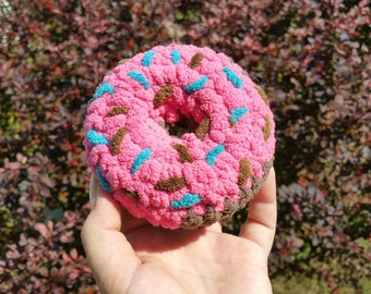 Pink Frosted Donut with Sprinkles