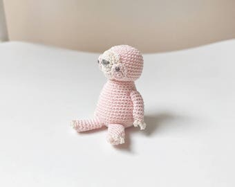 TINY SLOTH amigurumi crochet, sloth toy, sloth gift, gift for kids, sloth baby gift, sloth christmas gift, happy sloth toy, sloth keepsake