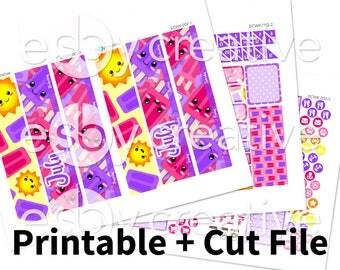 Sale - 25% Off! July 2017 Monthly Kit - Erin Condren Monthly View Sticker Kit Printable - ECMK-002 - INSTANT DOWNLOAD