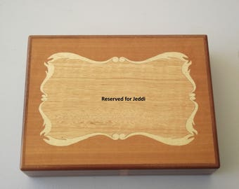 Reserved for Jeddieco - Playing card box