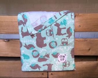 Woodland plush / / single layer flannel baby blanket