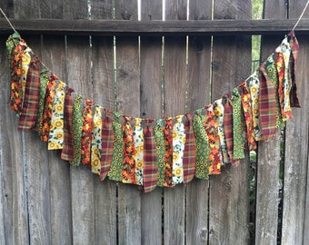 Fall Banner Rustic Fall Banner -Sunflowers -Leaves -Plaid