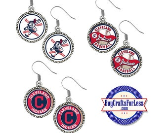 CLEVELAND Baseball EARRINGS, CHooSE Logo - Super CUTE!  +FReE SHiPPiNG & Discounts*