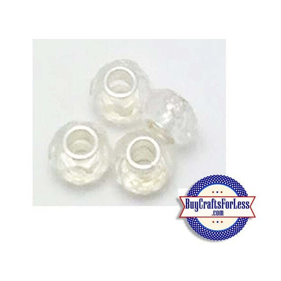 Acrylic BEADs, Faceted, Pretty, CLEAR, 8 or 25 pcs  +FREE Shipping & Discounts*