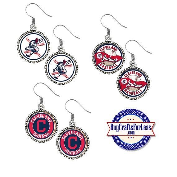 CLEVELAND Baseball EARRINGS, CHooSE Logo - Super CUTE!  +FReE SHiPPiNG & Discounts*
