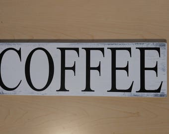 But First Coffee sign, wood sign, sign with vinyl, rustic sign, pallet style sign