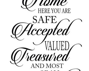 You Are Home Wall Decal w/ free shipping