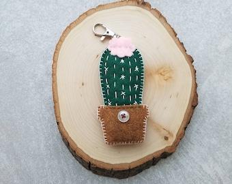 Felt Cactus Keychain / Bag Charm