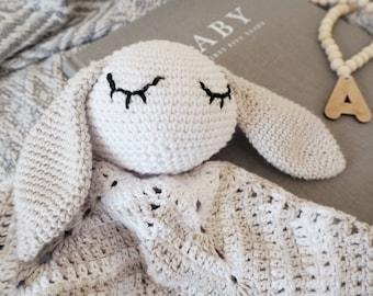 Snuggle Friend, Comforter, Toy, Crochet, Amigurumi, Baby shower gift, Cuddly toy, Cuddly, Soft toy, Plush toy, Baby toy, Nursery