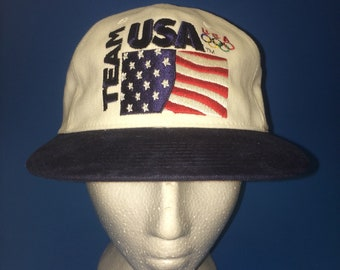 Vintage Team USA Starter SnapBack Hat Adjustable 1990s
