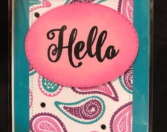 Paisley Hello Card