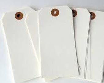 "Extra Large White Shipping Tags With Reinforced Hang Tags No. 8 - 6 1/4"" X 3 1/8"" - Qty = 50"