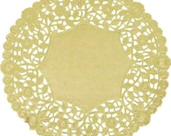 """12"""" 100PCS Gold Foil Lace Doily, Paper Doilies, Doily, Lace Doily, Lace Doilies, Foil Doilies, Gold Lace Doily, Gold Foil Doilies, Gold"""